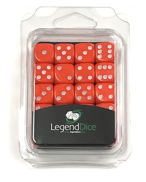 16mm Dice x 20 Retail Packed ORANGE / white small image