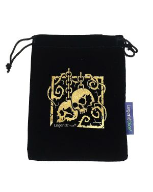 Skull Dice Bag, Black with Gold small image