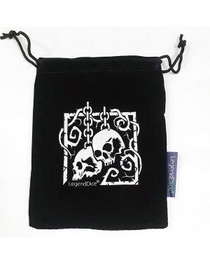 Skull Dice Bag, Black with Silver  small image